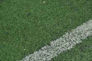 Soccer field sideline