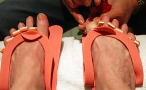 Woman Getting Pedicure