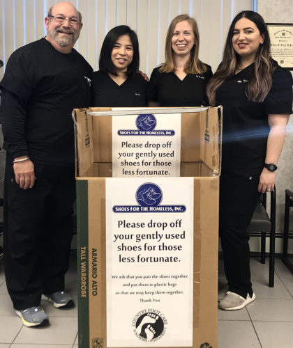Country Foot Care team at Shoes for the homeless event