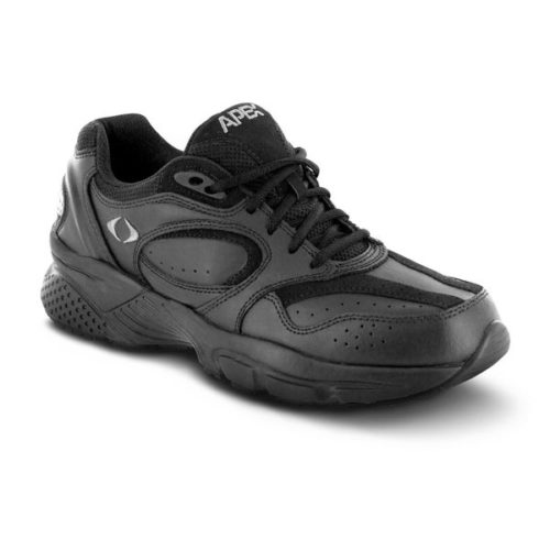 Men's apex Lace Walkers black sneaker