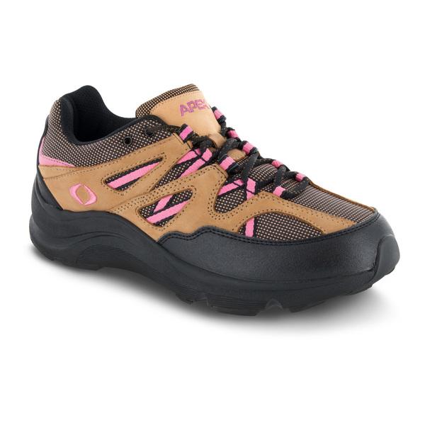 apex sierra trail runner brown pink