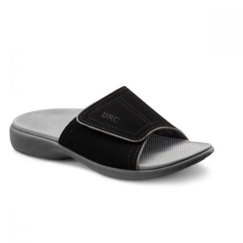 connor black sandal