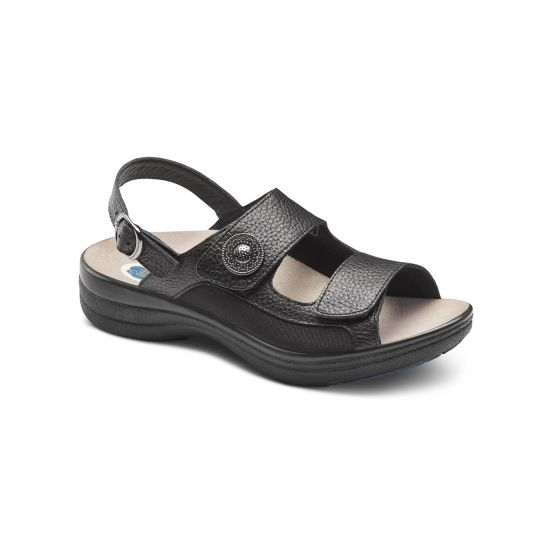lana black sandal