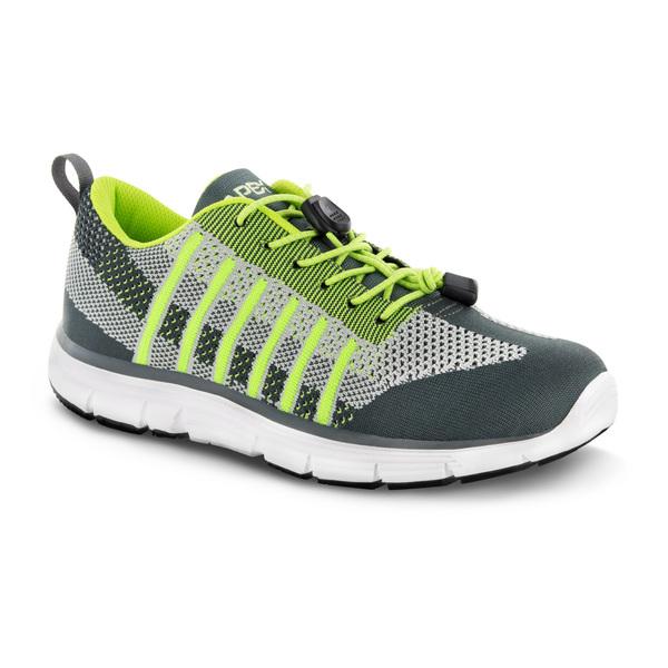 mens apex Bolt Athletic Knit lime sneaker