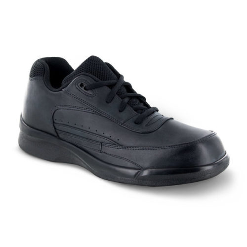 mens apex active lace walker black sneaker