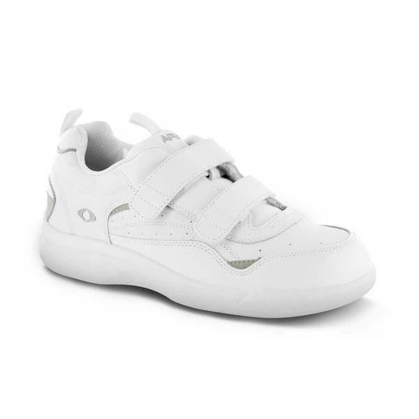 mens apex active strap walker white sneaker