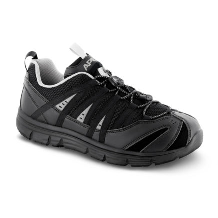mens apex athletic bungee black sneaker