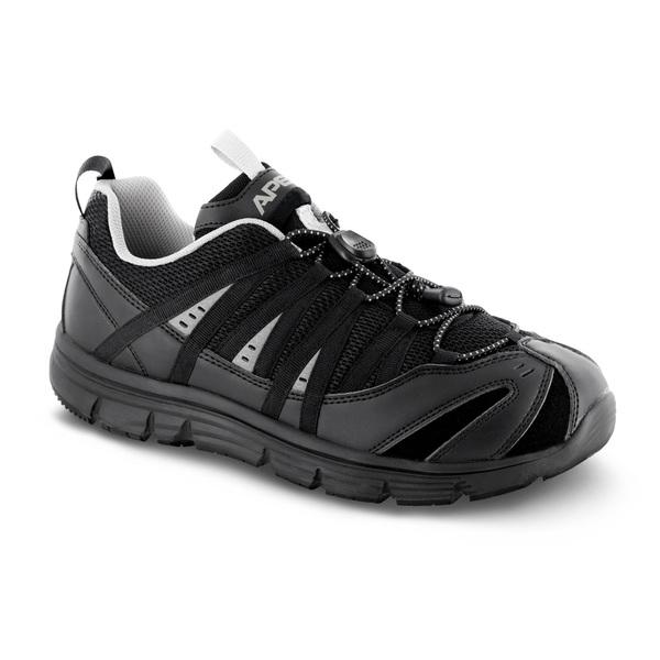 mens apex athletic bungee black sneaker
