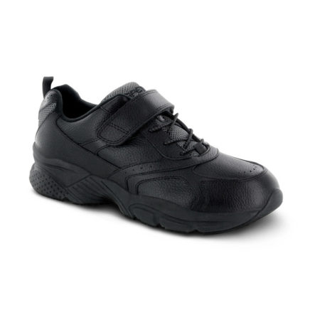 mens apex athletic bungee strap black sneaker