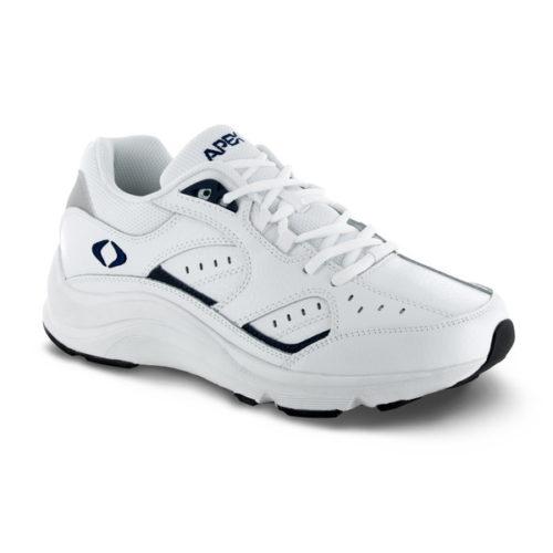 men's apex athletic lace walker white sneaker