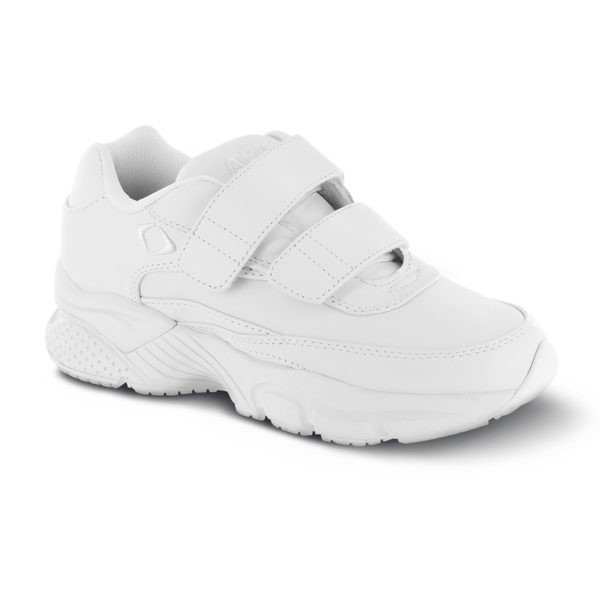 men's apex athletic strap walker white sneaker