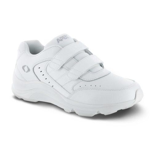 men's apex strap walker white sneaker