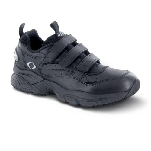 men's apex triple strap walker black sneaker