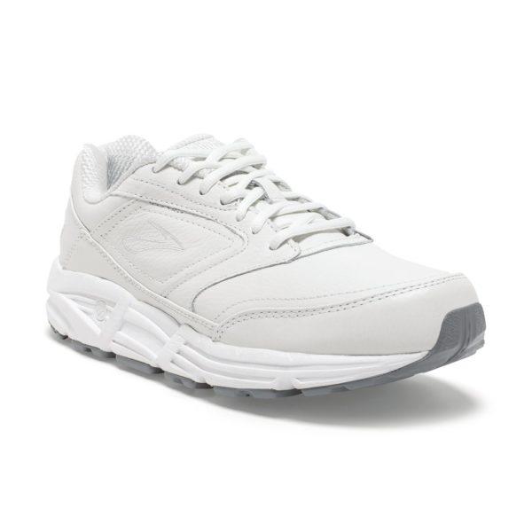 mens brooks addiction walker 2 white sneaker