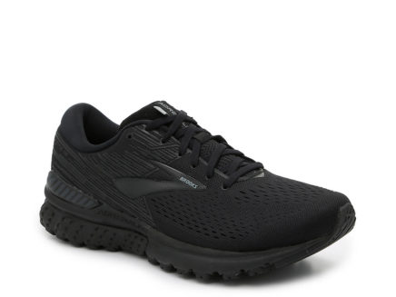 mens brooks adrenaline black sneaker