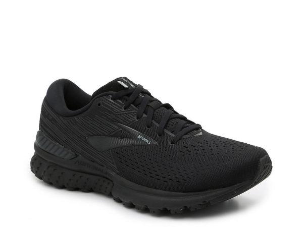 mens brooks adrenaline black sneaker