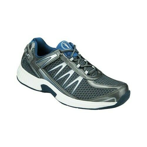 mens orthofeet sprint tie-less grey sneaker