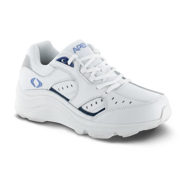 womens apex lace walker white periwinkle sneaker