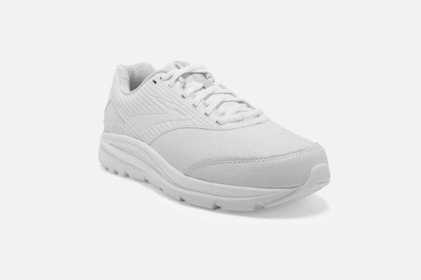 womens brooks addiction walker 2 white sneaker