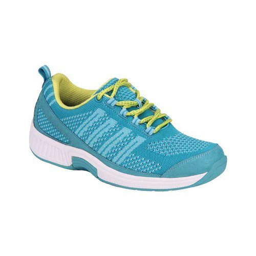 womens orthofeet coral turquoise sneaker